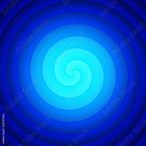 Foto op Canvas Spiraal Wasser Reinkarnation - Blau Cyan 02