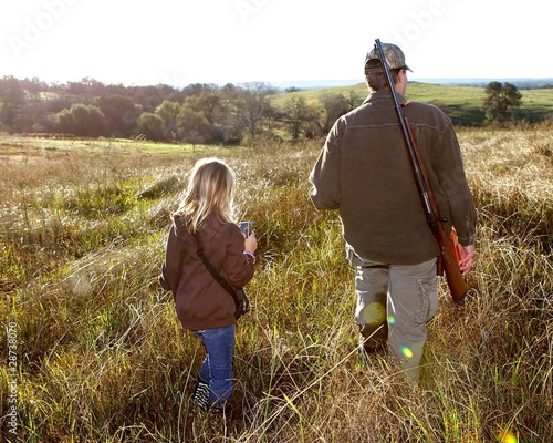 Papiers peints Chasse Father and Daughter