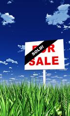 Schild im Gras - Sold 02