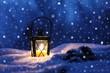 Romantischer Abend im Winter