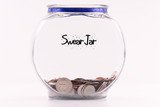Swear Jar with Accumulated Coins