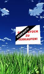 Schild im Gras - Grundstück verkauft 02