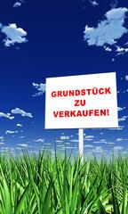 Schild im Gras - Grundstück zu verkaufen 02