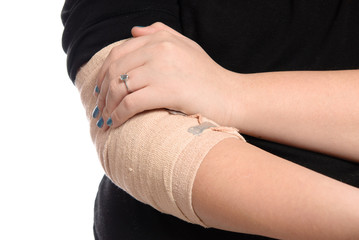 Closeup Elbow Injury