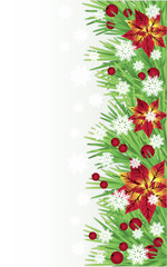 Winter greeting banner. vector illustration