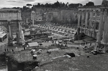 ruins on Capitoline Hill