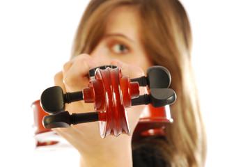 Donna con violino 007
