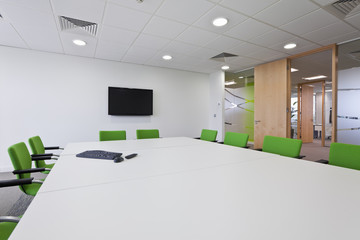 Modern furnished boardroom