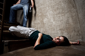 Violence against woman, domestic abuse concept