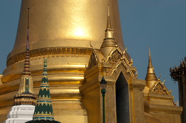 Detail of the Grand Palace at Bangkok, Thailand