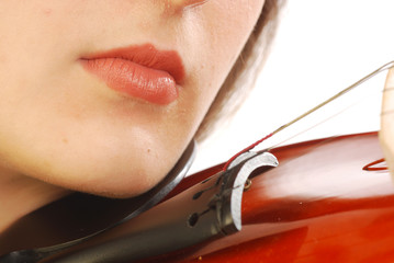 Donna con violino 041