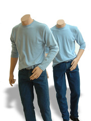 Male mannequins without head