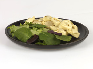 Tortelloni with Salad