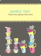 fancy cup set