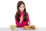 advice little girl for unhealthy food poster