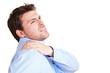 Geschäftsmann mit Schulterschmerzen