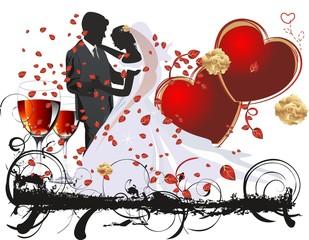corazones copas boda