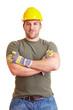 Portrait eines Bauarbeiters