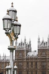 Lamp near Big Ben