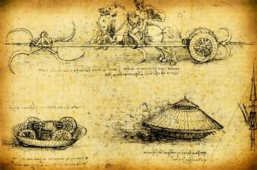 Leonardo's Da Vinci engineering drawing