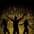 Party people and mosaic background