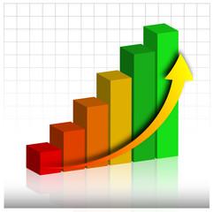 istogramma, business, incremento,guadagno,