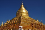Myanmar sightseeing: Golden Shwezigon Pagoda Bagan poster