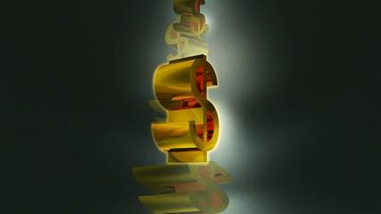 Das goldene Geldsymbol - Dollar