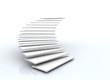 Leinwanddruck Bild - staircase on white