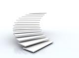 staircase on white