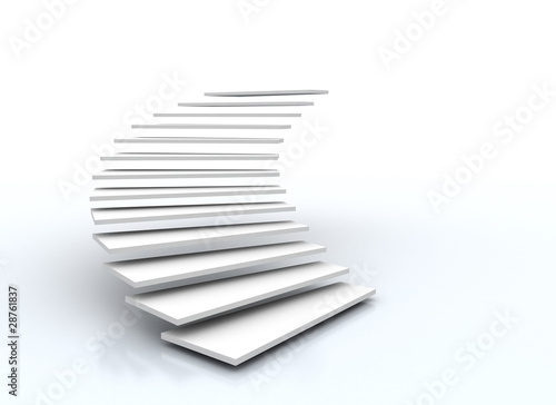 Deurstickers Trappen staircase on white