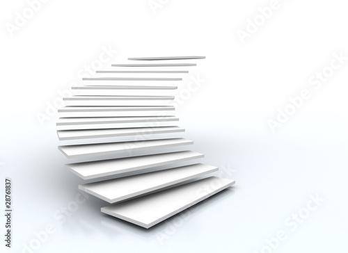 staircase on white - 28761837