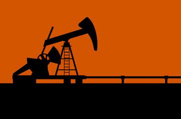 Oil pump vector