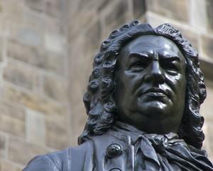 Carl Seffner's 1908 J.S. Bach statue, St. Thomas Church, Leipzig