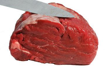 Beef illet Being Sliced