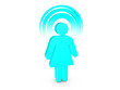 Turquoise Spiritual Girl with visible color Aura