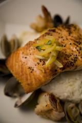 Roasted Salmon on Basmati Rice