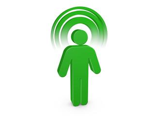 Green Spiritual Man with visible color Aura
