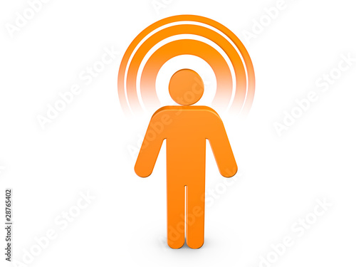 Orange Spiritual Man with visible color Aura