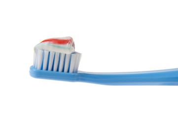 Close-up of Toothbrush and Toothpaste