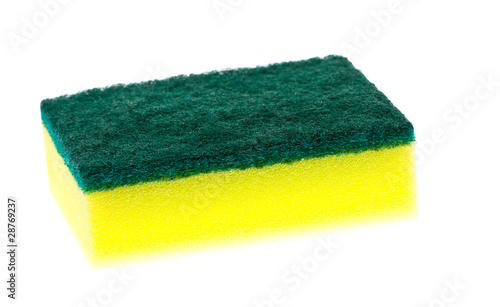 Colorful new clean scrubber pad or scourer.