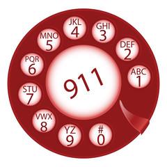 emergency dial disk
