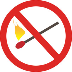 no matchstick fire sign