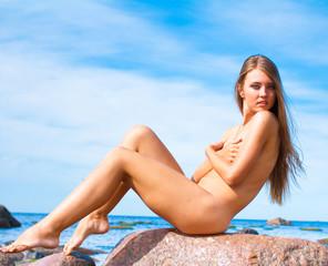 Beauty Sitting Beach