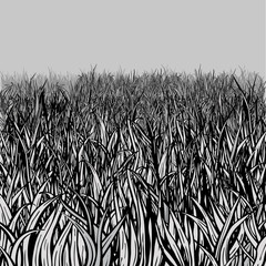 Editable vector grass field