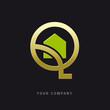 logo entreprise, habitat, logo q