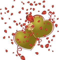 corazones oro