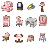 Fototapety cartoon furniture icon