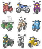 Fototapety cartoon motorcycle