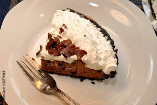 Chocolate Pie with Cream